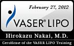 ベイザーリポ(VASER Lipo)認定証